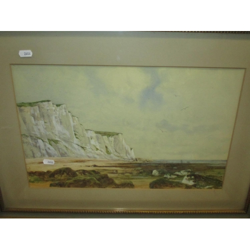 145 - A pair of early 20th century watercolours of coastal scenes, unsigned in gilt wood frames 29 x 46cm ...