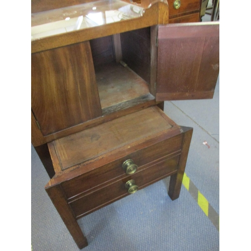 101 - A Georgian tray topped commode, internals altered, 81 h x 51 w x 42cm d Location: RWB...