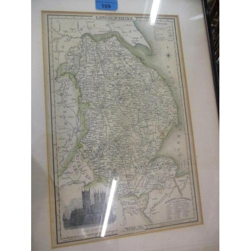 109 - A map of Lincolnshire, 22 x 36cm, Location: RWB...