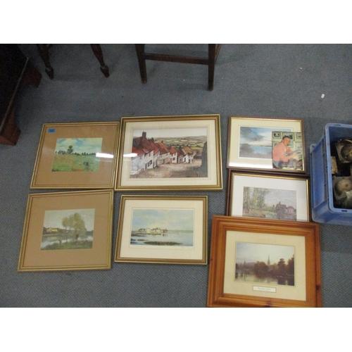 123 - Seven various prints Location: LWB...