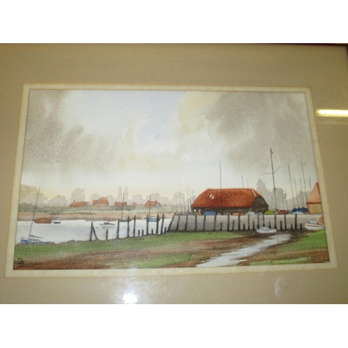 124 - A 20th century landscape watercolour signed M. Fletcher, together with a watercolour of 'Bosham Quay...