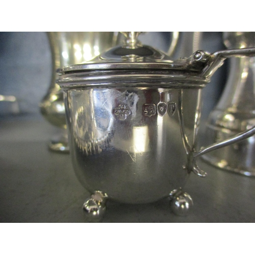 13 - A selection of miscellaneous white metalware, to include a pepperette and a silver plated christenin...
