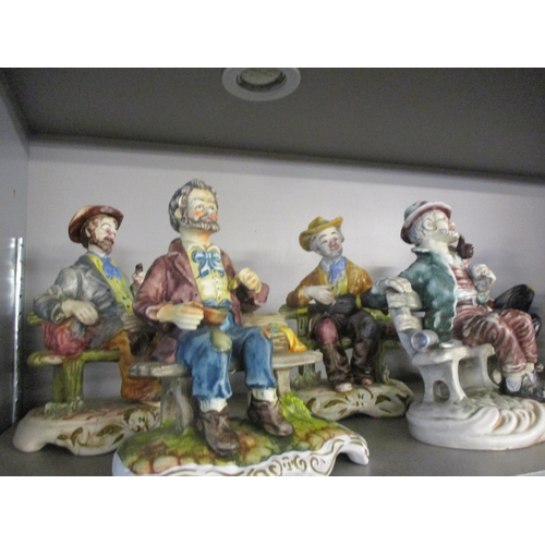 142 - A quantity of 20th century ceramic figures to include Capodimonte style figures Location: 4:1...