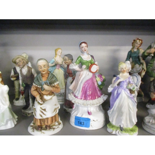 143 - Miscellaneous 20th century figures to include Continental examples and three modern composition figu...