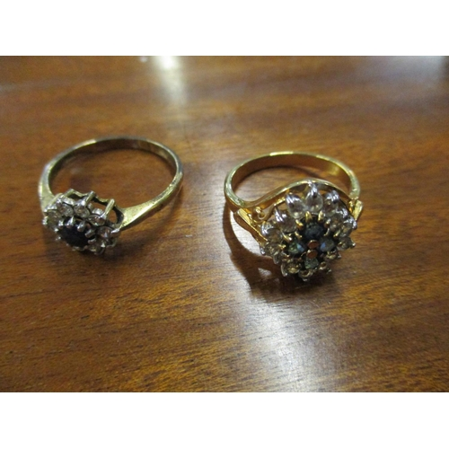 15 - Six 9ct gold rings, 11g, together with two yellow metal rings Location: Cab...