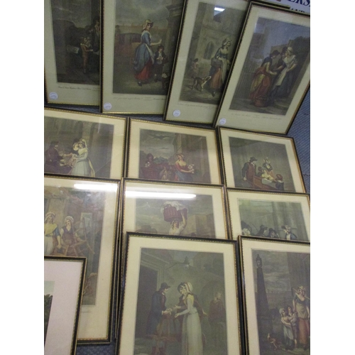 26 - Cries of London prints framed, originally painted by F Wheatly RA, thirteen in total, together with ...