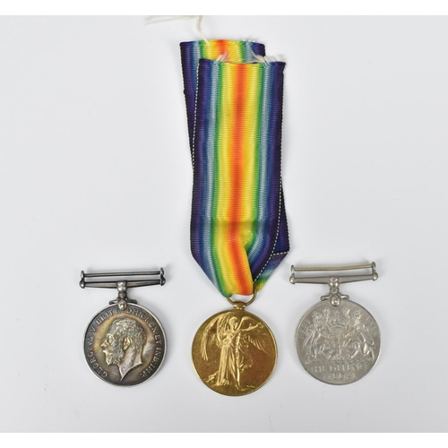 42 - A WWI British War Medal and Victory Medal named to 2 Lieut C P Metcalf (Durham Light Infantry), alon...