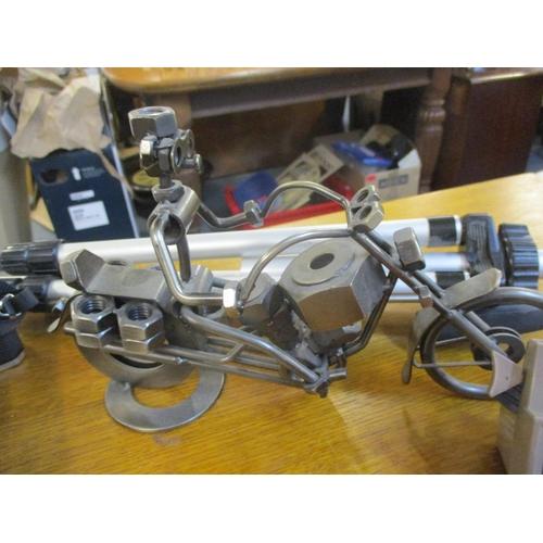 56 - A Minolta camera, lens, tripod, two Viewmasters and reels, collectors tea cards, collectors diecast ...