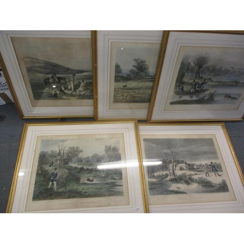 79 - Five game shooting related prints, originally painted by Turner, plates 1, 2, 4, 5 and 6 Location: R...