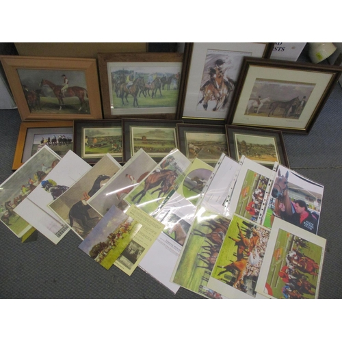 82 - Horse racing-related books, some first editions, together with horse racing prints and other horse p...