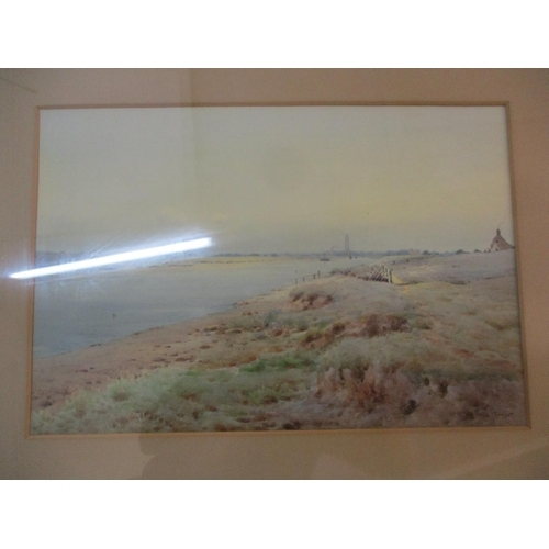 10 - W B Thomas- An Estuary scene, a framed and glazed watercolour, signed lower right hand corner, 37cm ...