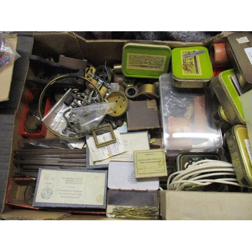 298 - A quantity of clock parts and some watch parts Location: G...