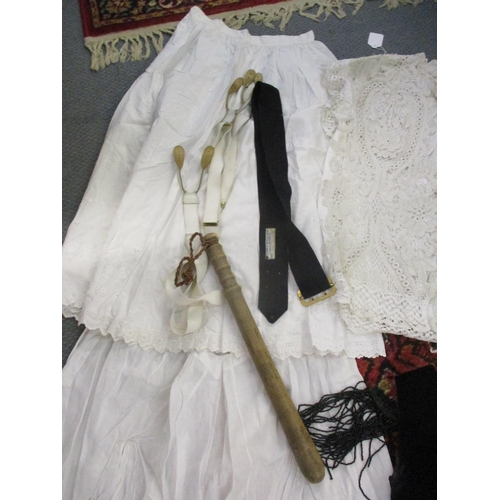 306 - Victorian and later clothing to include a black Blanes ladies top with bead detail to the shoulders ...