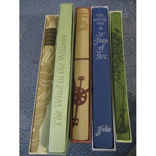 309 - Folio books to include a 1995 Wind in the Willows by Kenneth Graham, a 1986 second impression of Out...