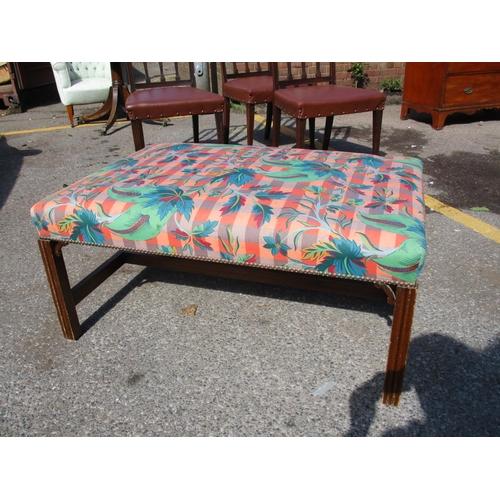 325 - A Georgian style hearth stool 47cm h x 102cm w x 72cm d Location: RAB...