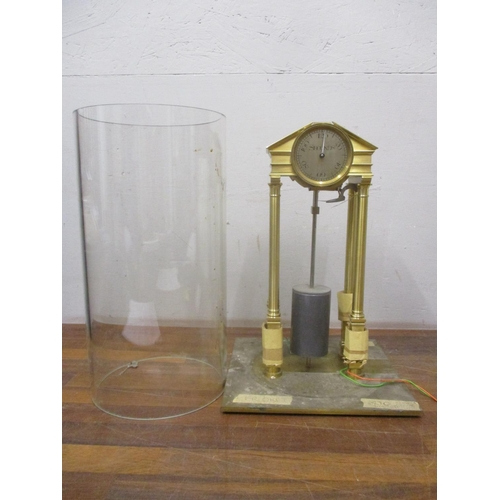 327 - An unusual brass architectural design electric clock/timer, the dial inscribed 20,40,60,80,100,120, ...