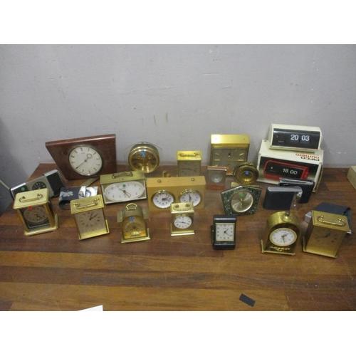 331 - Twentieth century brass, plastic and other cased clocks Location: G...