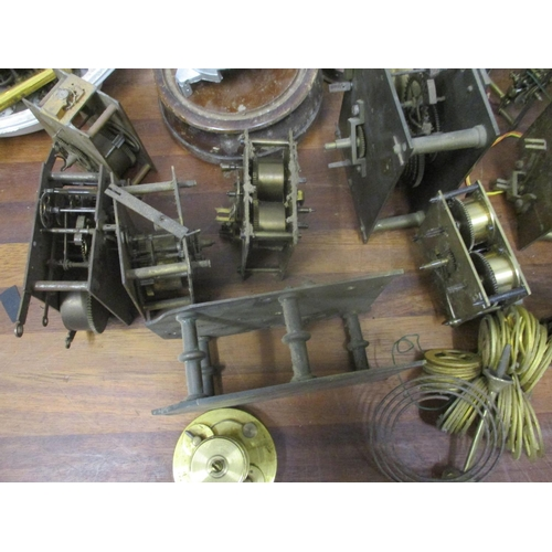 332 - Mainly clock parts to include two Fusse movements Location: VAL...