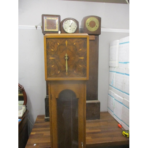 337 - Four 1930/40's clock cases, two with movements Location: G...