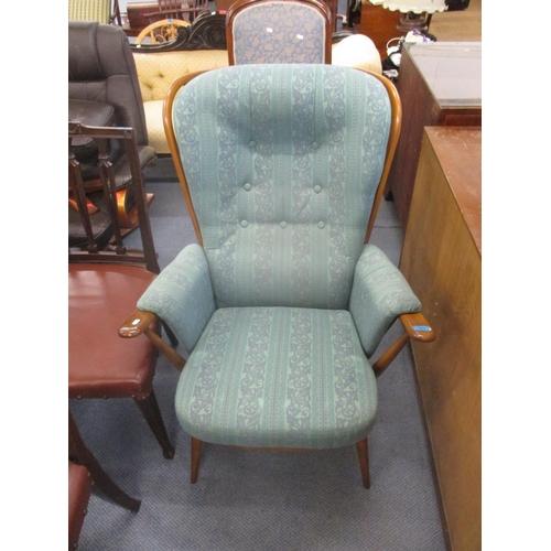 313 - A modern Ercol stick back armchair Location: C...