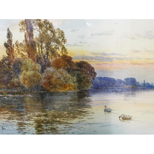 184 - Alfred de Breanski Senior (1852-1928) British 'The Thames' signed lower left and dated 1885, waterco...