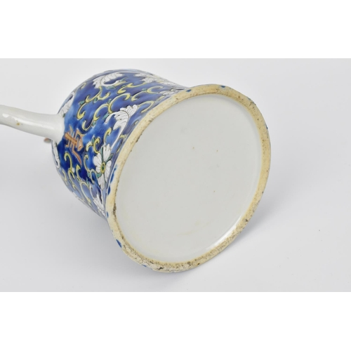 18 - A small collection of Chinese porcelain to include an 18th century export enamelled plate, a late Qi...