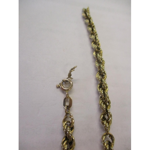 1 - A 9ct gold chain link necklace stamped 375 A/F, 10.8g Location: Cab Condition: Repair work required ...