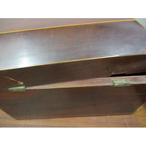 11 - A Regency sarcophagus formed, mahogany tea caddy A/F Condition: Attention required at hinge area Loc...