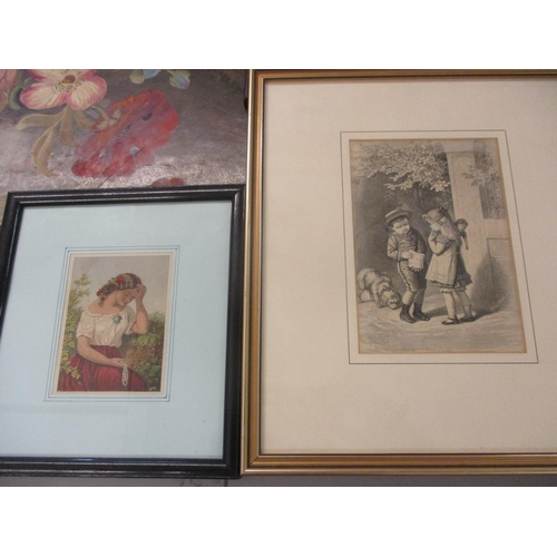 31 - E. Lecroix - Still life, oil on board, signed lower right hand corner, unframed, together with mixed...