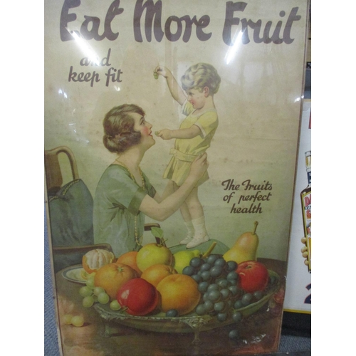 16 - Advertising prints 'Eat More Fruit', 'HP Salad Dressing' and 'Daddies Favourite Sauce' AF Location: ...