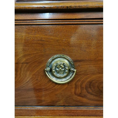 91 - A Regency mahogany bureau bookcase, with moulded cornice above two astragal glazed doors enclosing t...