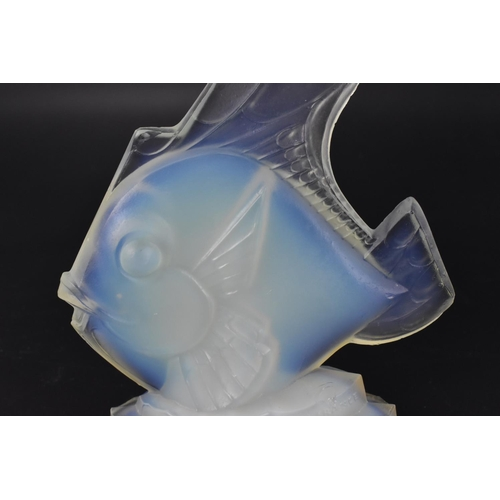 28 - An Art Deco style Sabino opalescent glass car mascot of an angelfish, with moulded 'SABINO FRANCE' m...