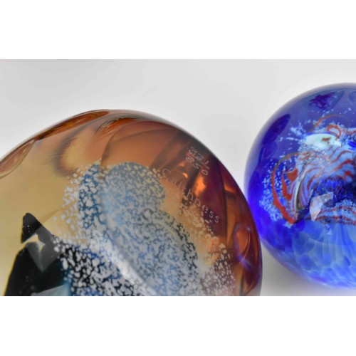 23 - A collection of glass paperweights to include examples by John Deacon, Peter Mcdougall, Perthshire, ...