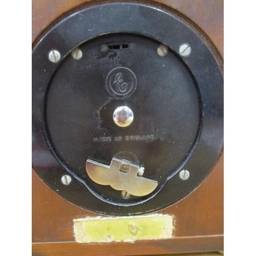 3 - A Garrard & Co Elliot mahogany cased mantel clock 15cm high Location: RWB