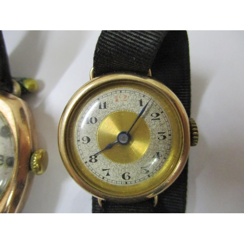 41 - A vintage Rotary Super-Sport wrist watch with 9ct gold case together with another vintage 9ct gold c...