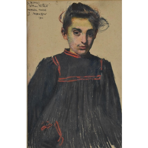 48 - Józef Mehoffer (1869-1946) Polish 'Petite Fille Juive de Florence (...)', signed and dated 1900 top ...