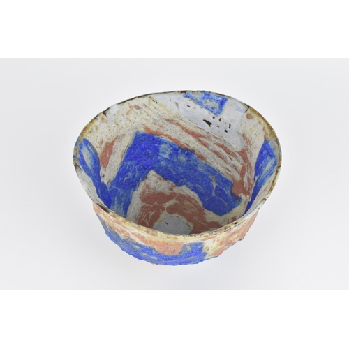 55 - Julian King-Salter (b.1954) British a hand-built stoneware bowl, of irregular form with onglaze oxid...