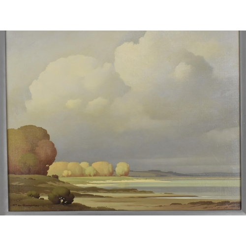 58 - Pierre de Clausade (1910-1976) French 'En Automne - Loire', signed lower left, oil on canvas, within...