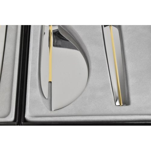 45 - A collection of boxed Art Deco style WMF for Maxim's de Paris cutlery, designed by Pierre Cardin, co...
