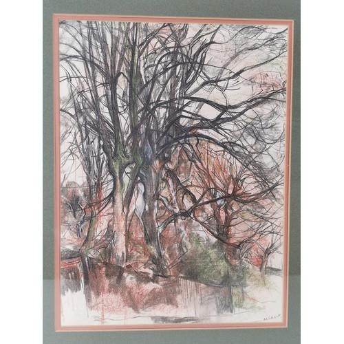 50 - Malvina Cheek A. R. C. A (British, 1915 - 2016) Two artworks comprising an original pastel drawing o...