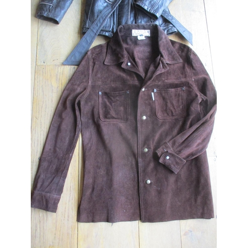 13 - Two late 20th century jackets comprising a Swedish Jofama soft brown leather ladies jacket, size 36