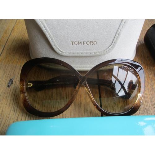 9 - Designer sunglasses comprising a pair of Kate Spade 'Hello Sunshine' brown mock tortoiseshell shades...