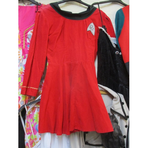 26 - Mixed fancy dress costumes originating from Jolliffes of Marlow to include a female Star Trek Engine...