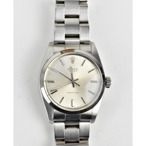 2 - A Rolex Oyster Precision wristwatch with stainless steel case and bracelet, Ref 6426, circa 1987, se...