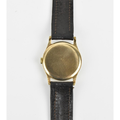 22 - A gents Mappin Campaign shock absorber, 9ct gold cased wristwatch hallmarked 1962. With Arabic numer...