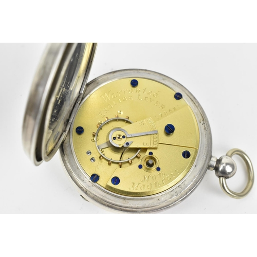 31 - A group of four late 19th to mid 20th century silver pocket watches, to include a Victorian half hun...