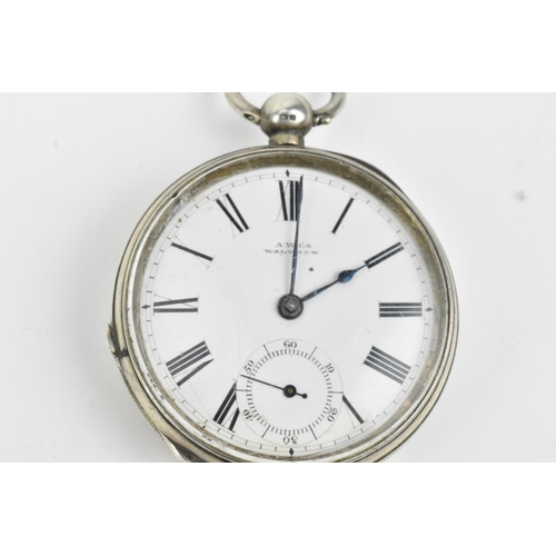 37 - A group of three early 20th century key wound, silver cased, open faced pocket watches, to include a...