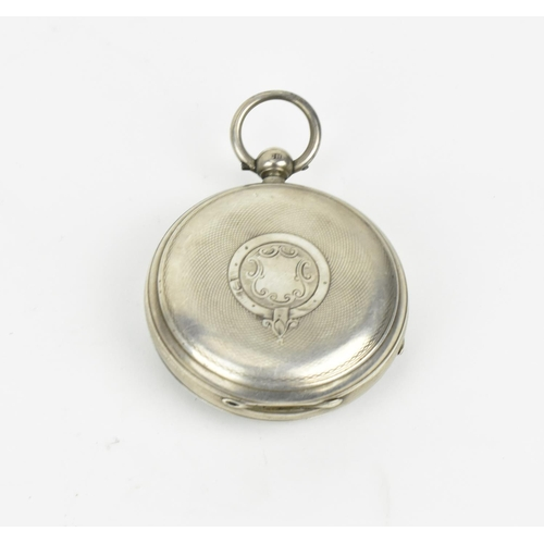 39 - An early 19th century fusee, key wound, open faced, pair cased pocket watch, lacking pair case, with...
