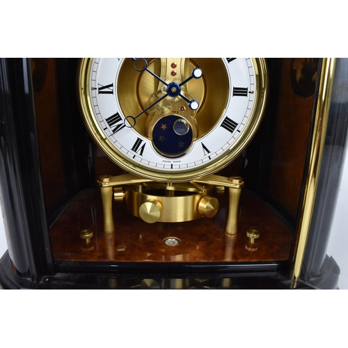 51 - A Jaeger Le Coultre, extremely fine and rare special edition Atmos clock, ref 226 with a sliding pan...