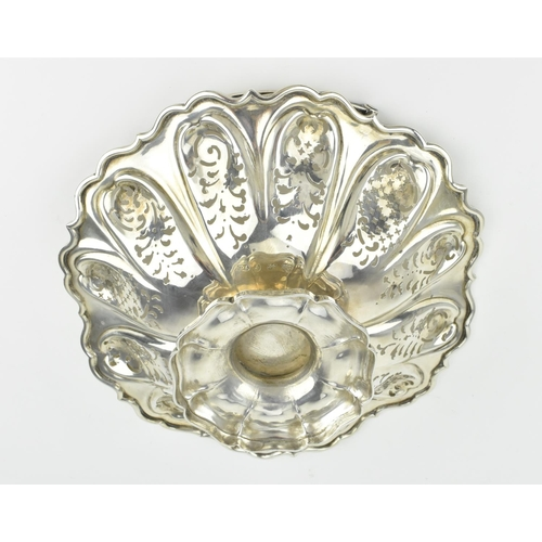 42 - A Victorian silver bonbon basket dish by Henry Wilkinson & Co, Sheffield 1849, with shaped border wi...